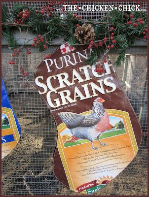 There are many ways to up-cycle chicken feed bags, but by far, chicken Christmas stockings are my favorite.