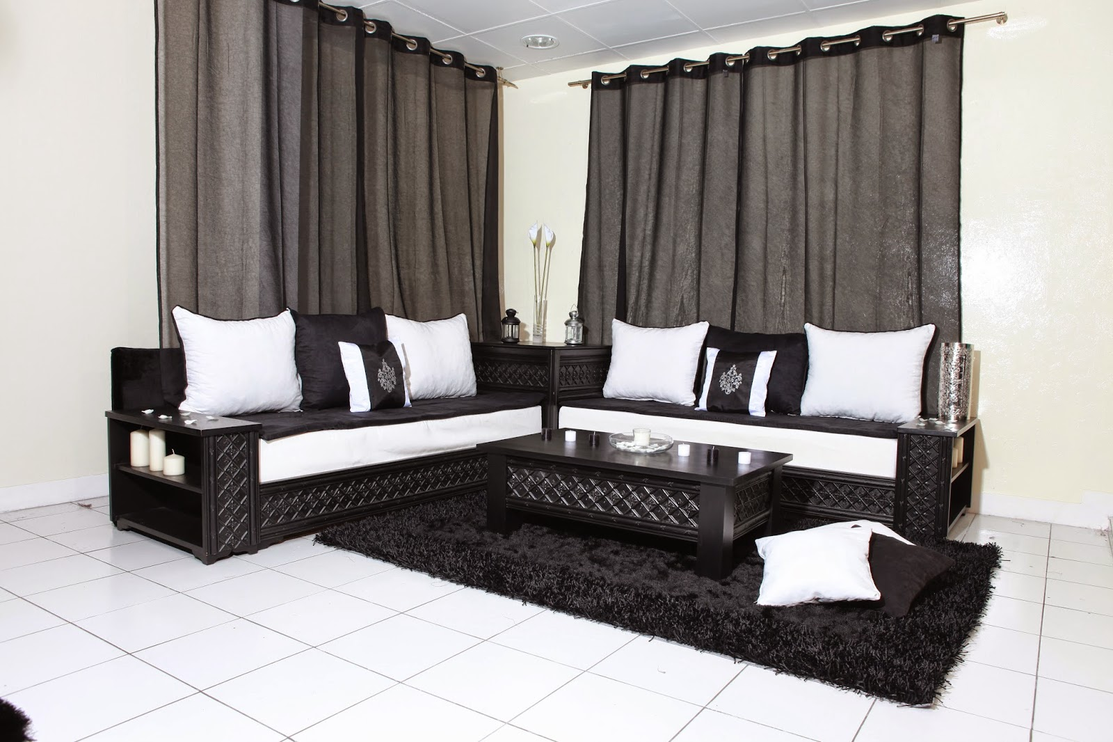 salon marocain moderne enfrance avec des id es int ressantes pour la conception. Black Bedroom Furniture Sets. Home Design Ideas