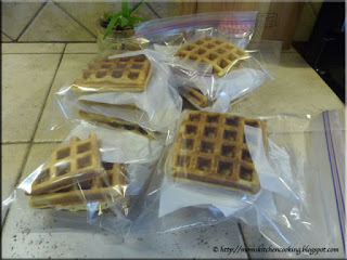waffles ready for the freezer