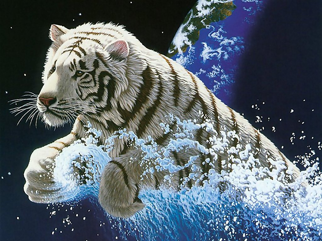 White Tiger Coming out from the world || Top Wallpapers Download .blogspot.com