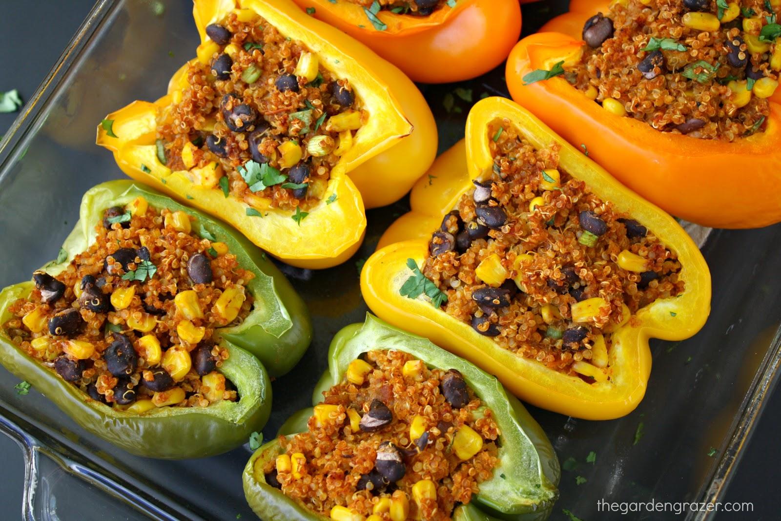 The garden grazer mexican quinoa stuffed peppers mexican quinoa stuffed peppers forumfinder Gallery