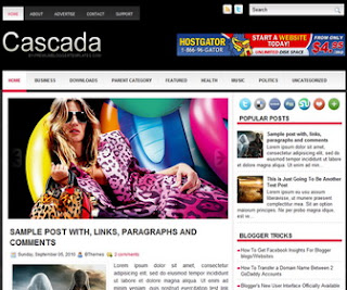 Cascada Blogger Template