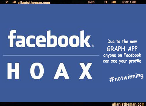 Facebook 'graphic app' Privacy Warning Hoax