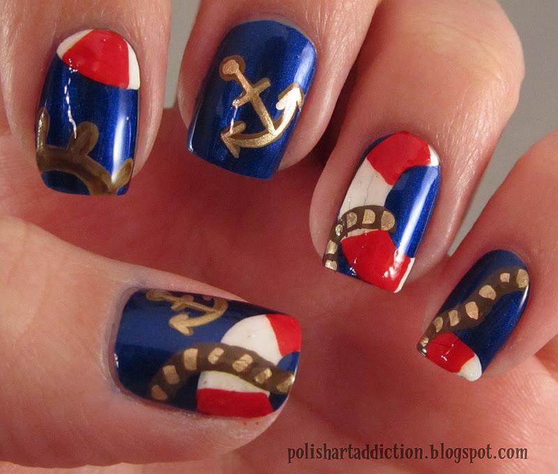 Nautical Nail Art Nautical Nails Tutorial