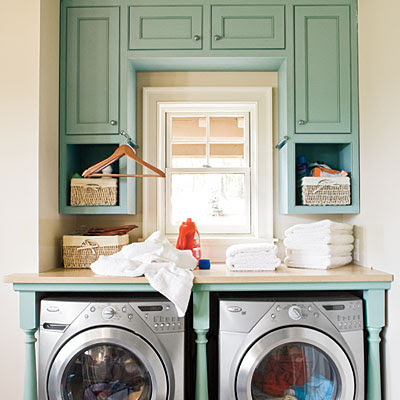 Laundry Room on Have Some Fun With Your Laundry Room Cabinets And Paint Them