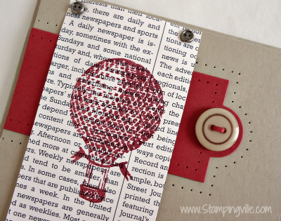 Vintage Hot Air Balloon - Artwork by Stampin' Up!