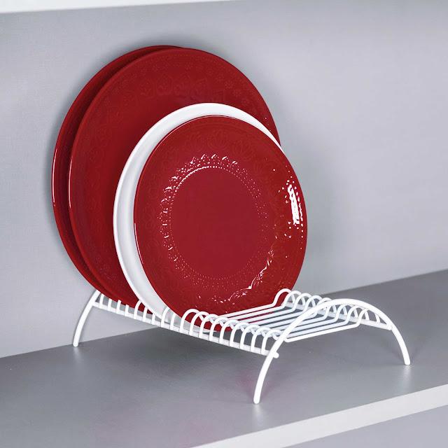 Organizador de pratos para armário
