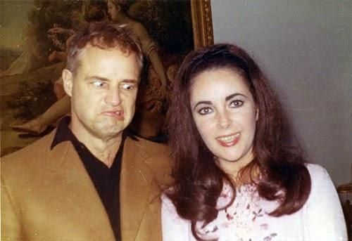Marlon Brando y Elizabeth Taylor