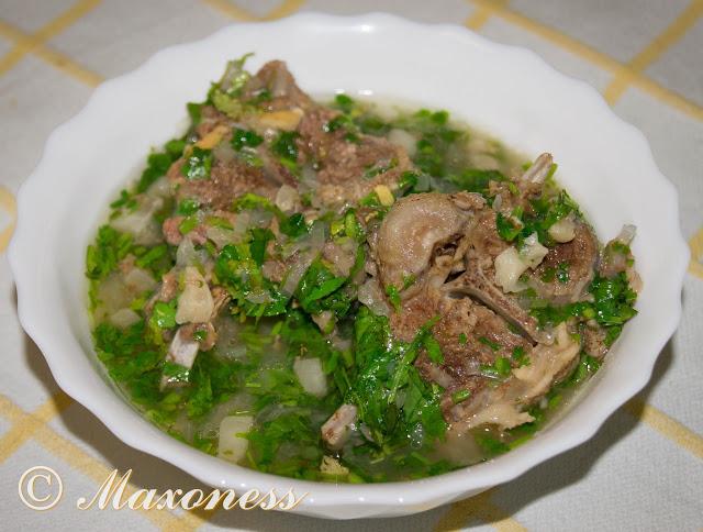 Соютма (мясо ягненка в казане). Азербайджанская кухня
