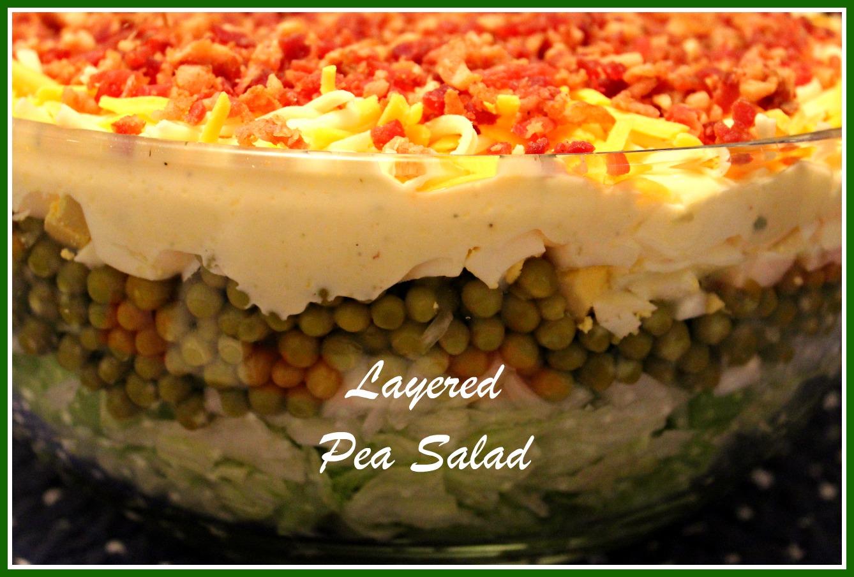 Sweet Tea and Cornbread: Layered Pea Salad...a Southern Favorite!
