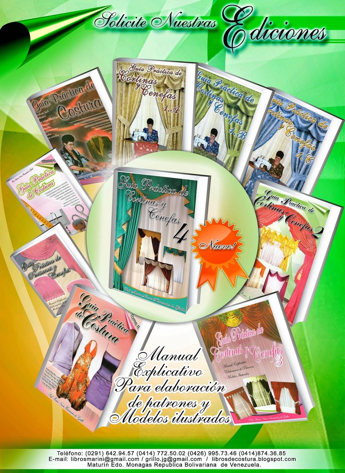 colección de libros de costura, cortinas y cenefas