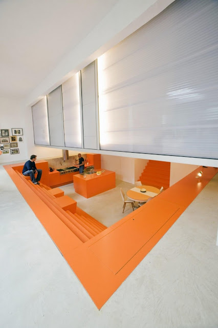Orange and white combination of interiorRotterdam