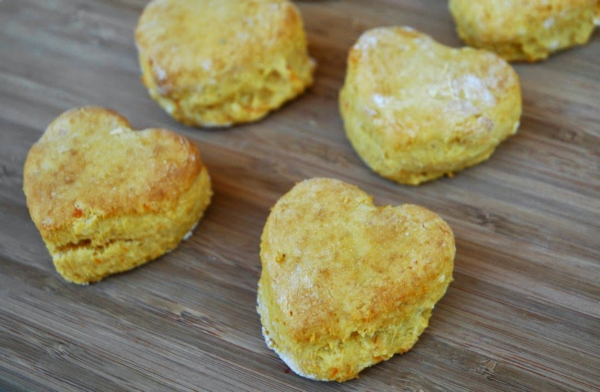 Sweet Heart Sweet Potato Biscuits- Kids' snack for Valentine's Day