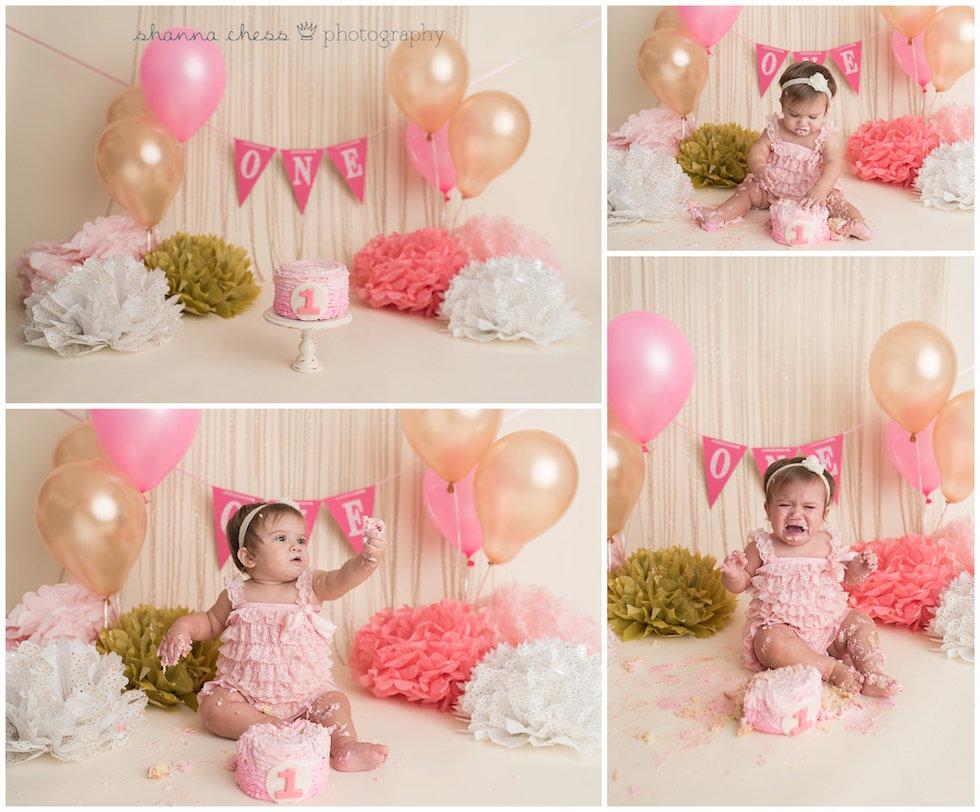 eugene springfield oregon baby photography one year cake smash