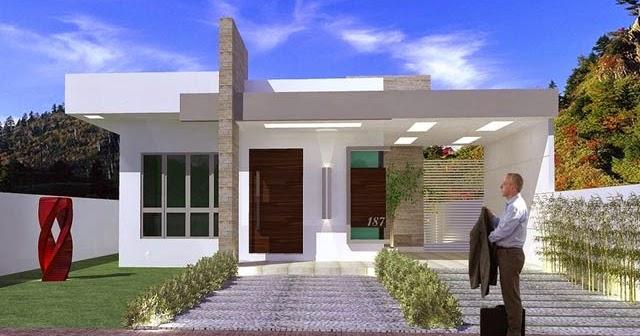 Plano de casa moderna de 93 m2 planos de casas gratis y for Casa moderna gratis