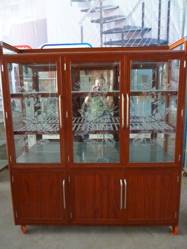 tủ chén nhôm kính 5