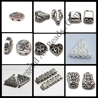 Sterling Silver Multi Hole Beads