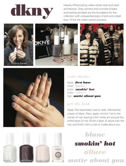 dkny essie manicure