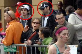 Alleged Boston bombers Dzhokhar and Tamerlan Tsarnaev photographed at the Marathon
