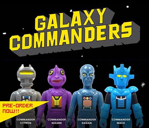 """GALAXY COMMANDERS /""""COMMANDER CYTRON/"""" VINYL TOY FIGURE SKULLMARK"""