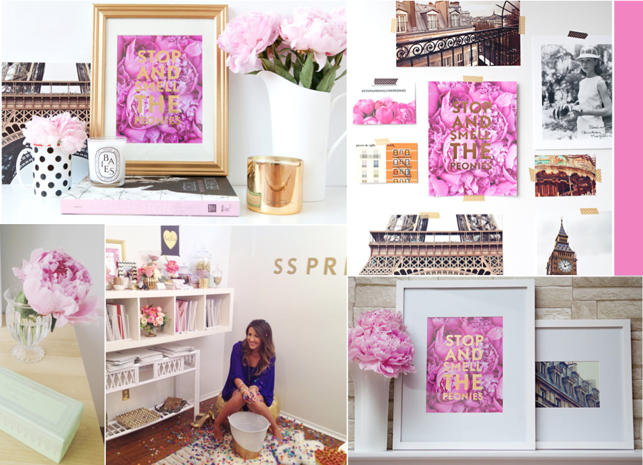 design maze ss print shop stop smell the peonies giveaway. Black Bedroom Furniture Sets. Home Design Ideas