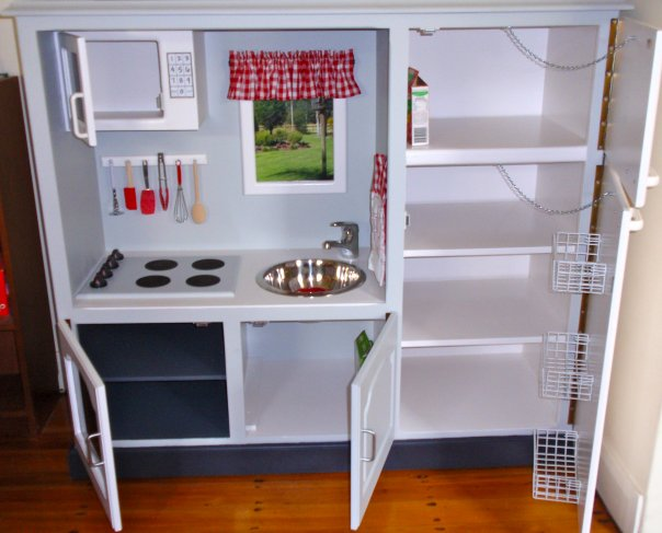 Zelf Een Speelgoed Keuken Maken : Play Kitchen From Entertainment Center