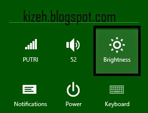 Cara mengatur brightness di windows 8