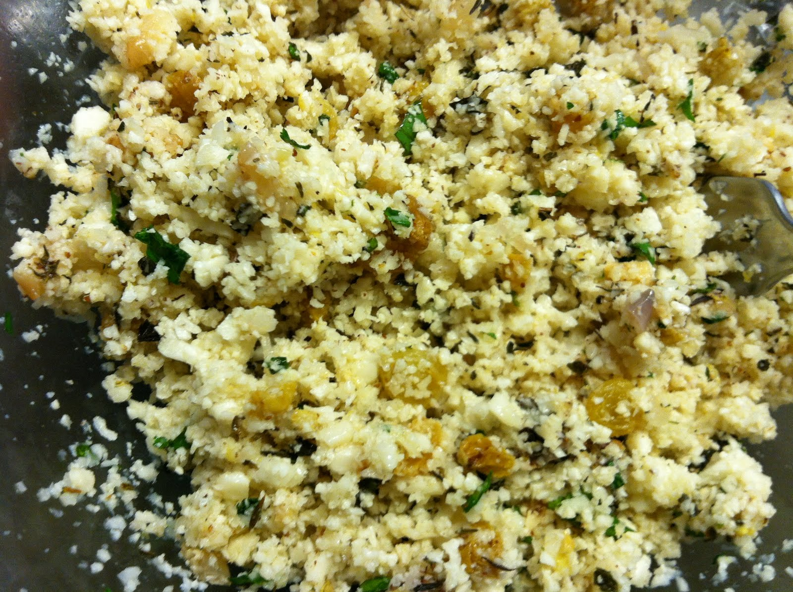 Cauliflower Tabbouleh With Raisins & Pistachios Recipes — Dishmaps