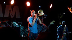 New Orleans music legend TROMBONE SHORTY on the outdoor stage at the NAMM Show in Anaheim