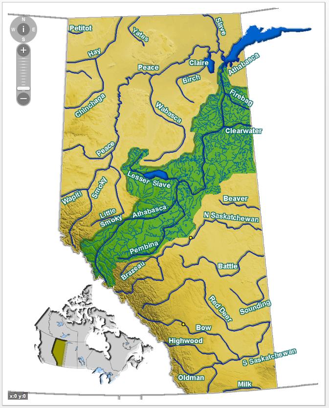 Athabasca Oil Sands Map Athabasca Oil Sands