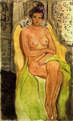Henri Matisse  - Nu dans un fauteuil jambes croisées