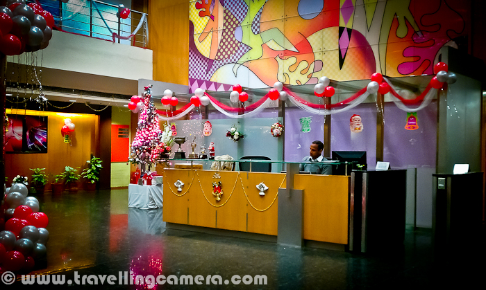 Christmas Decorations at my Office in Noida  Mobilegiri