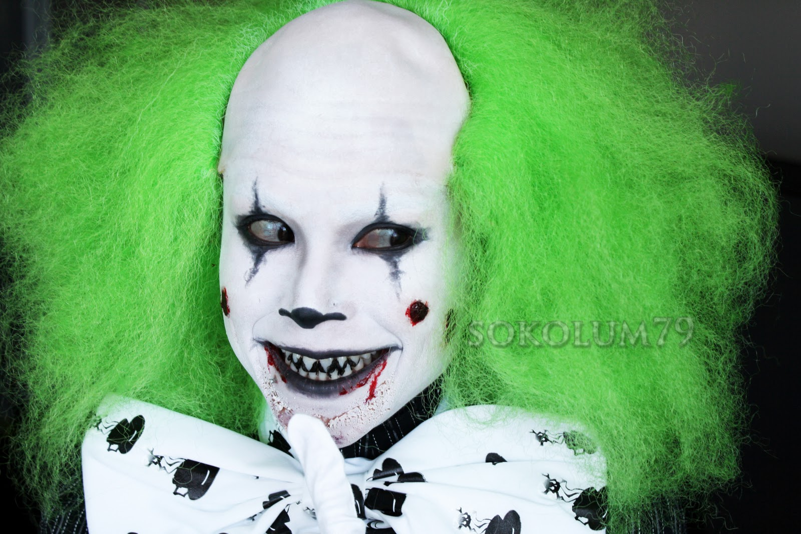 was inspired by Pennywise (from It), Heckles & Twitch and this photo ... Simple Clown Makeup Men