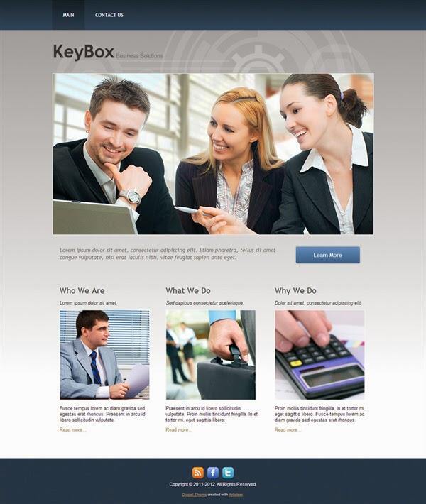 KeyBox - Free Drupal Theme