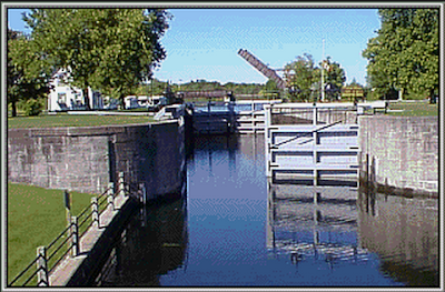 The Rideau Canal locks Smiths Falls