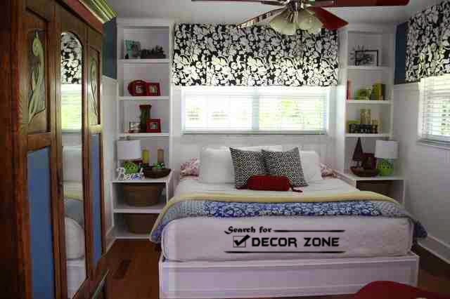 small bedroom furniture ideas shelves instead of nightstands