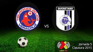 Veracruz vs Querétaro en la Jornada 5 Clausura 2015, lo transmite en vivo Unvision el 14-08-2015