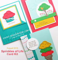 Stampin' Up! Sprinkles of Life Card Kit by Julie Davison www.juliedavison.com