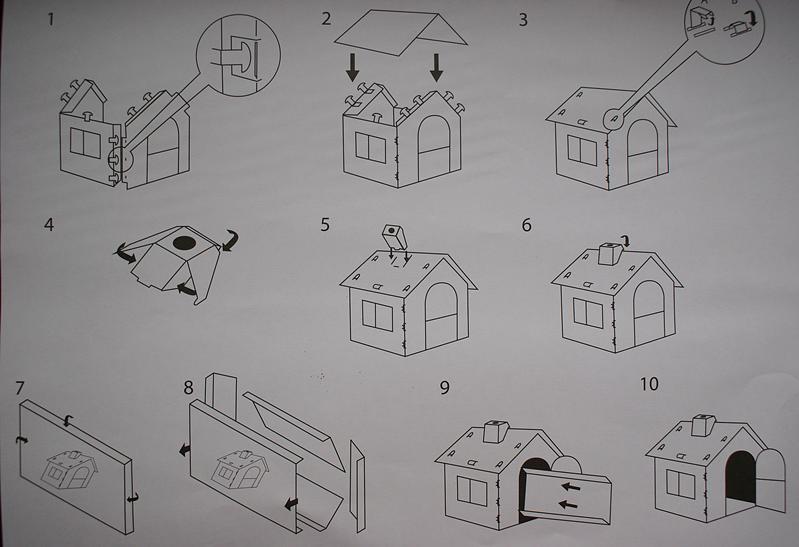 Kartonowy domek dla dzieci z Lidla instrukcja