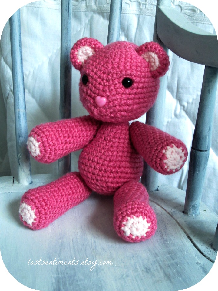Amigurumi To Go Teddy Bear : lostsentiments: Large Amigurumi Teddy Bear From Scratch