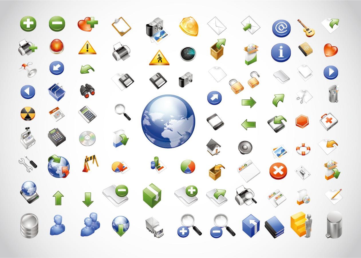 ウェブ アイコン詰め合わせ Web Icons Pack イラスト素材