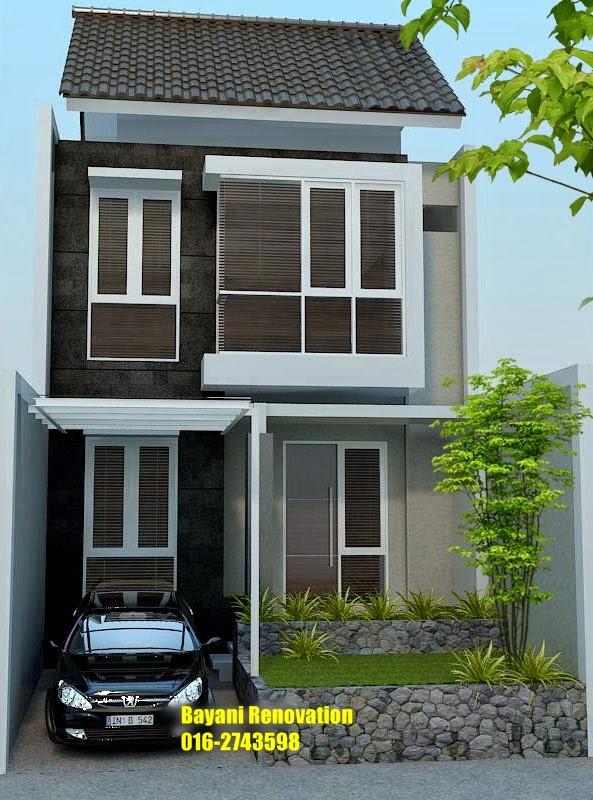 plan rumah semi d model rumah 2 lantai bayani home