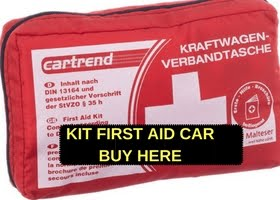 KIT first aid car to travel in Europe