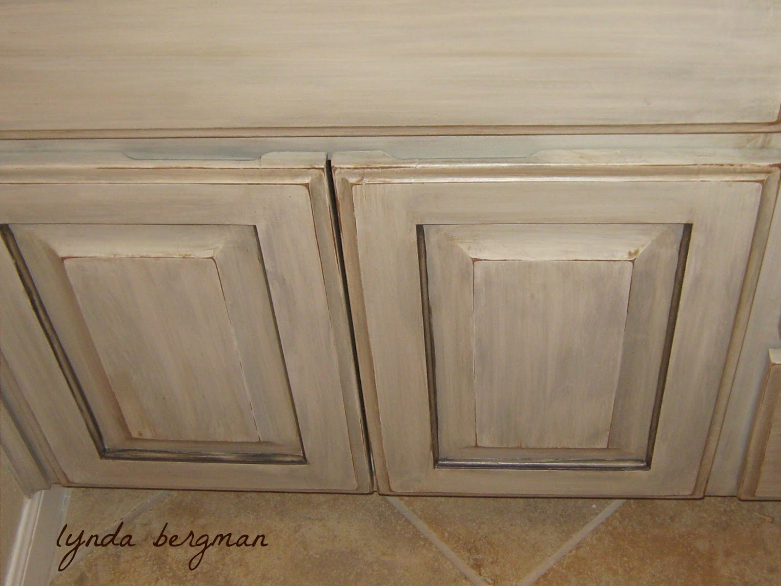 Painting And Distressing Bathroom Cabinets lynda bergman decorative artisan: painting a distressed shabby