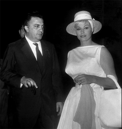 Fellini and Ekberg