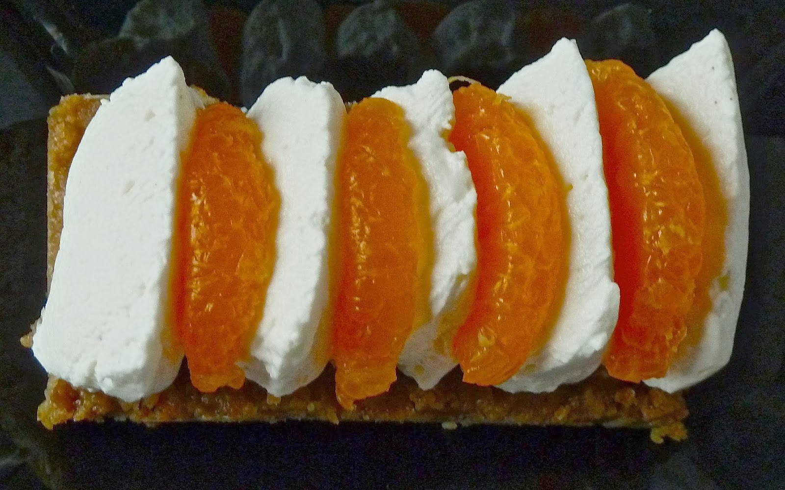 Past lite crujiente de speculoos con crema de vainilla y - Postre con mandarinas ...