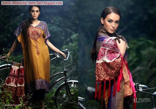 Marina Shawls Collection 2014-2015 by Firdous