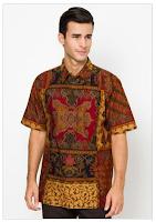 Contoh Model Baju Batik Muslim Pria Terbaru 2015