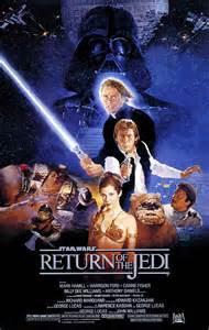 Cartel Star Wars El Retorno del Jedi