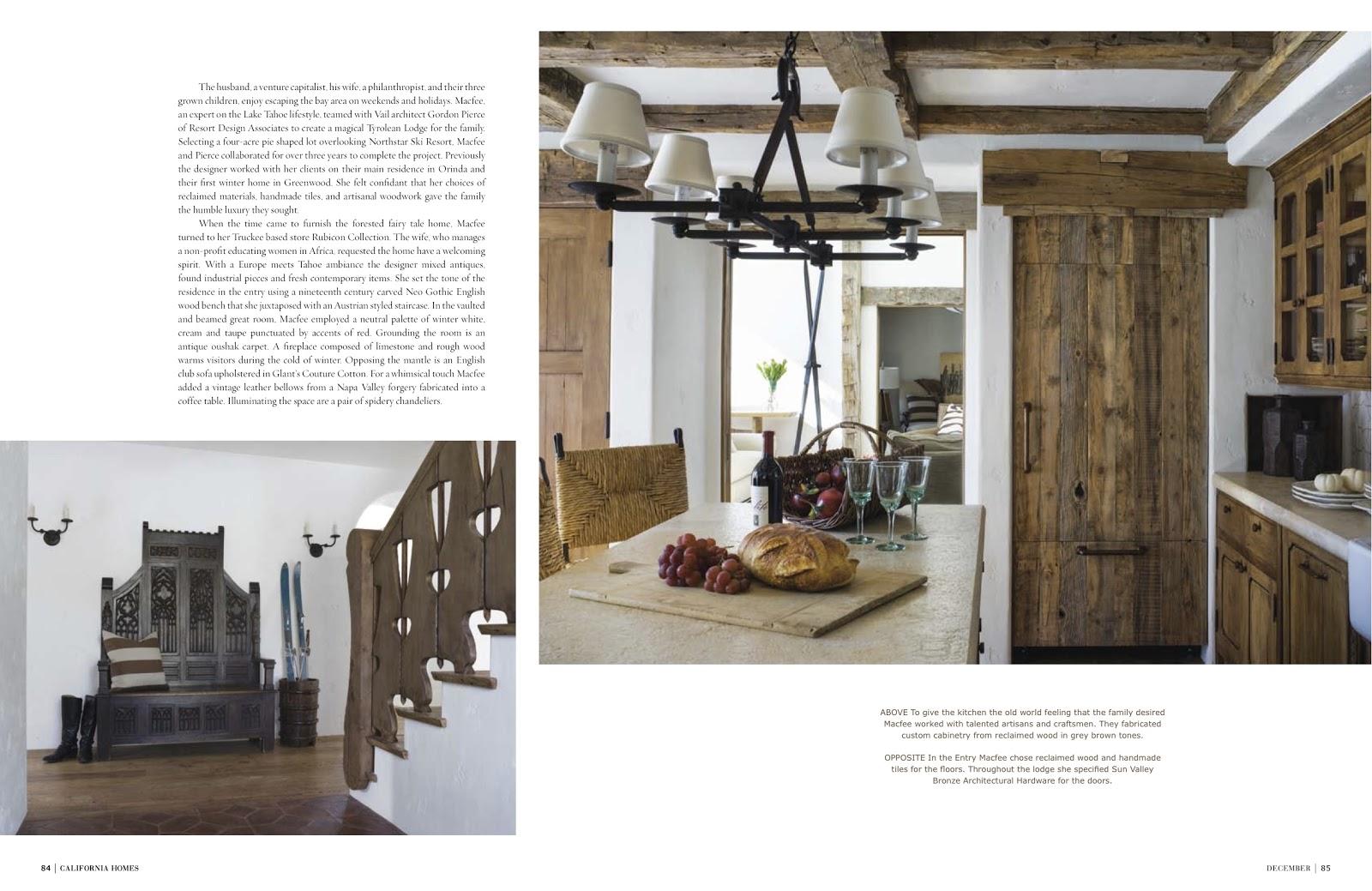 Winter Wonderland In Martis Camp California Homes Magazine December 2012
